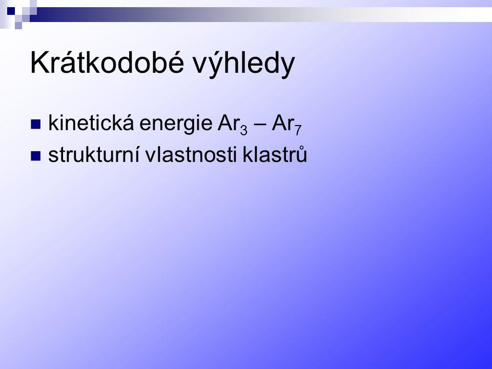 Krátkodobé výhledy kinetická energie Ar3 – Ar7