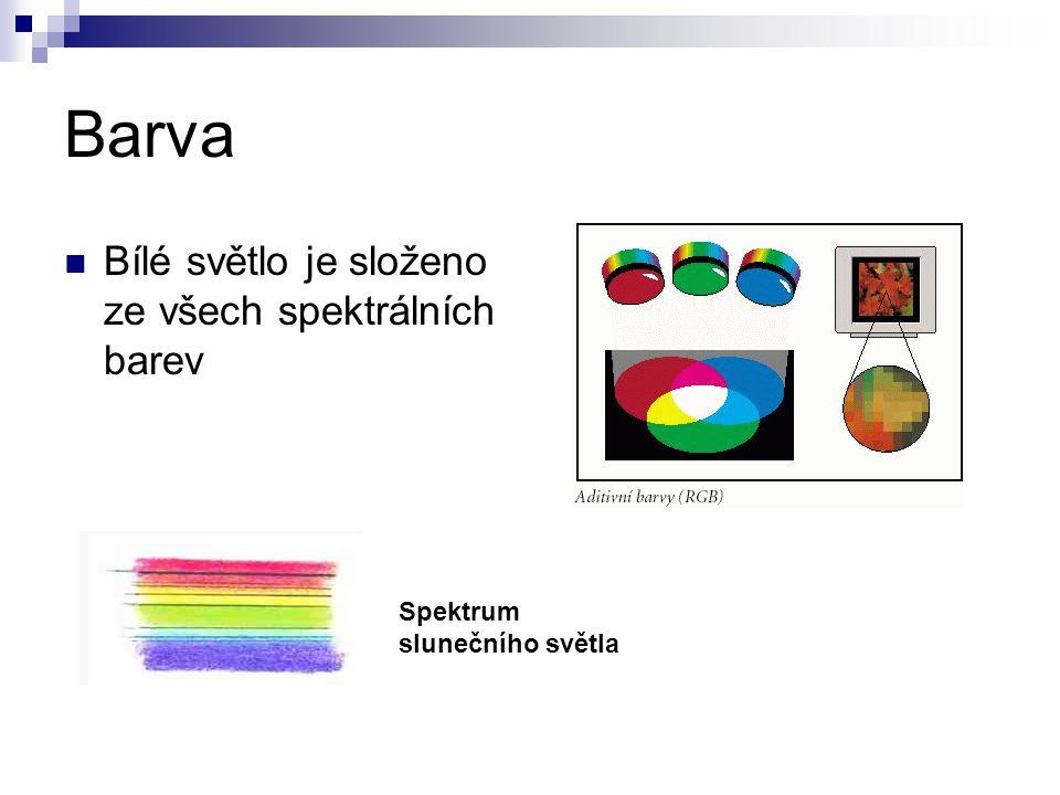 Barva Bílé světlo je složeno ze všech spektrálních barev