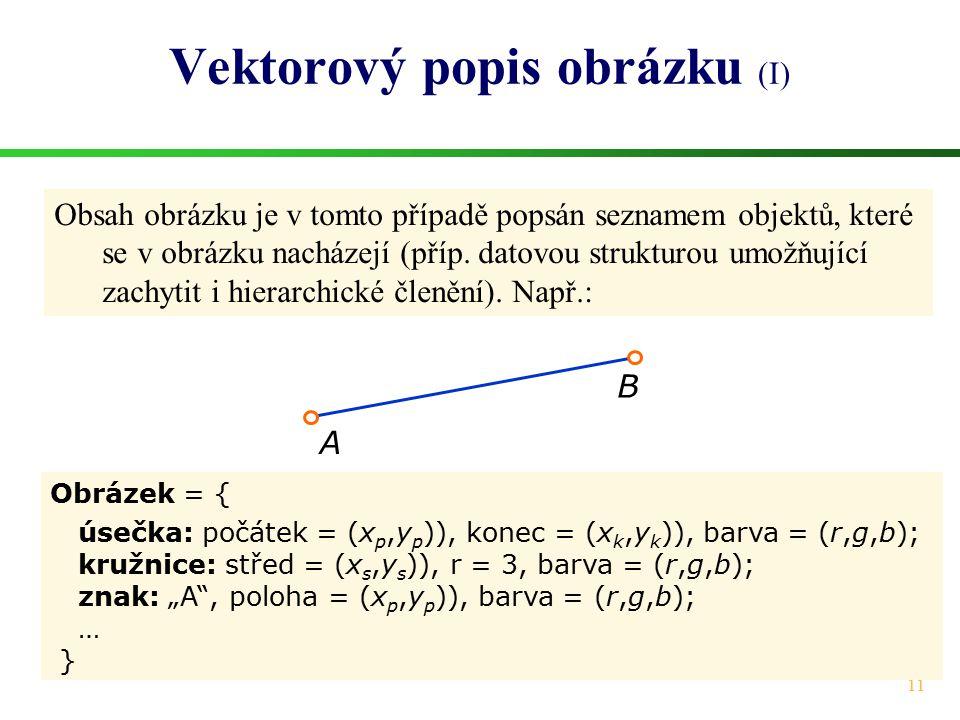 Vektorový popis obrázku (I)