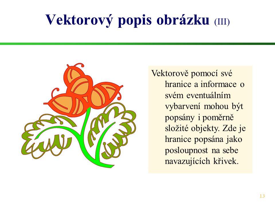 Vektorový popis obrázku (III)