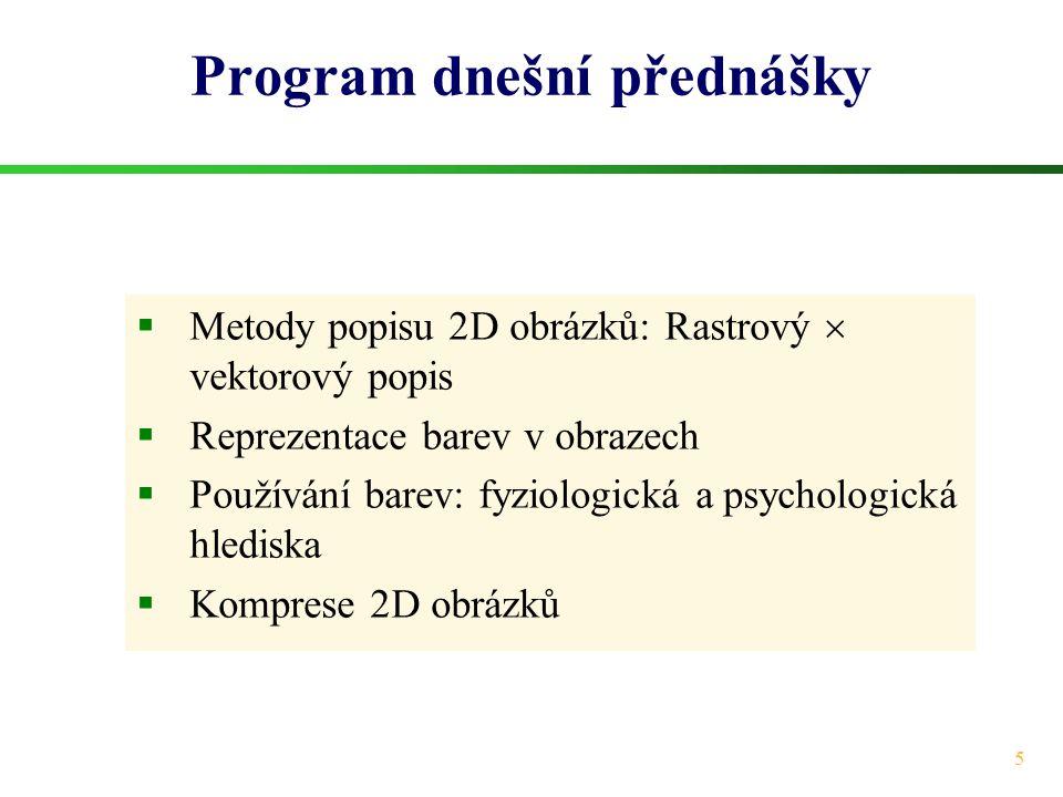 Program dnešní přednášky