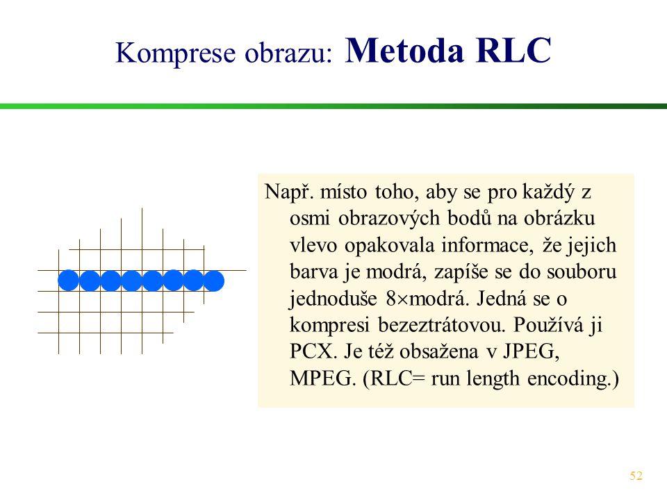 Komprese obrazu: Metoda RLC
