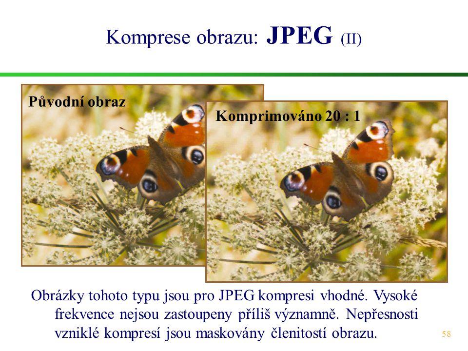 Komprese obrazu: JPEG (II)