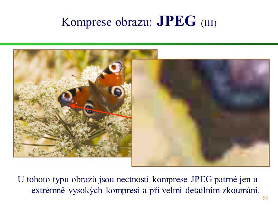 Komprese obrazu: JPEG (III)