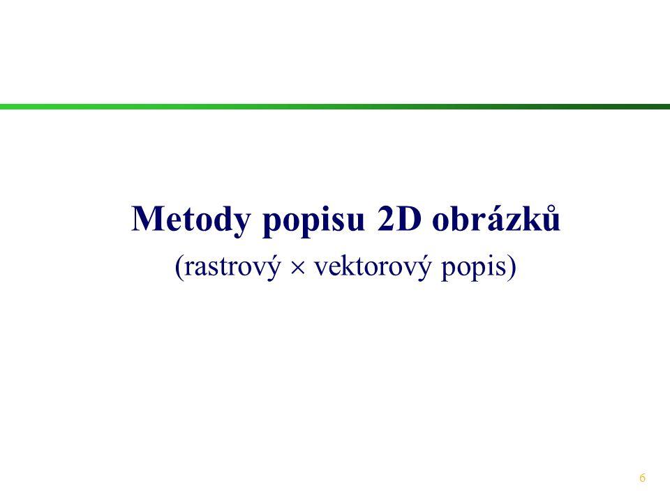 Metody popisu 2D obrázků