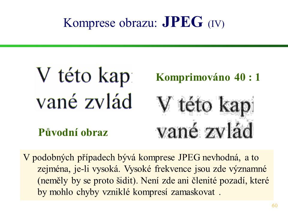 Komprese obrazu: JPEG (IV)