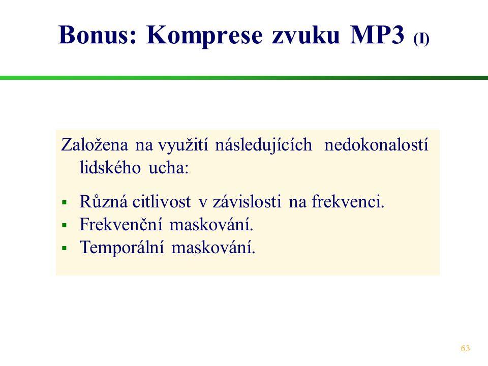 Bonus: Komprese zvuku MP3 (I)