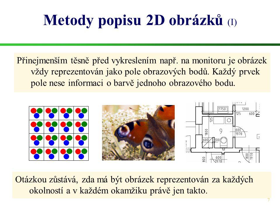 Metody popisu 2D obrázků (I)