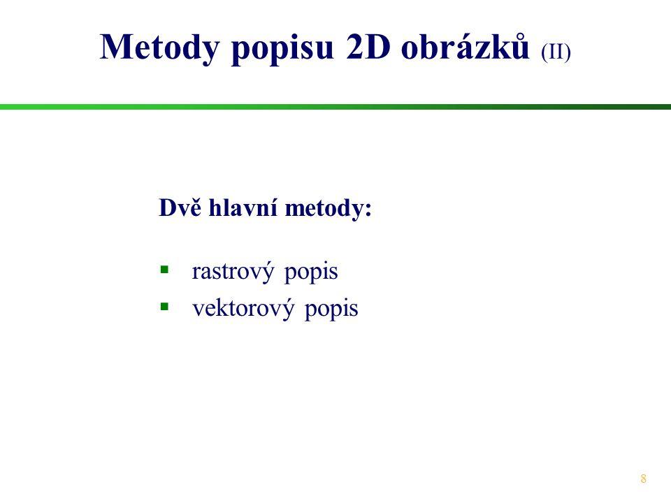 Metody popisu 2D obrázků (II)