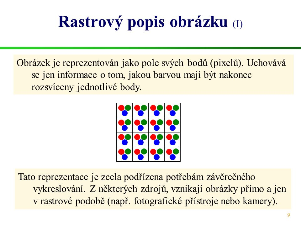 Rastrový popis obrázku (I)
