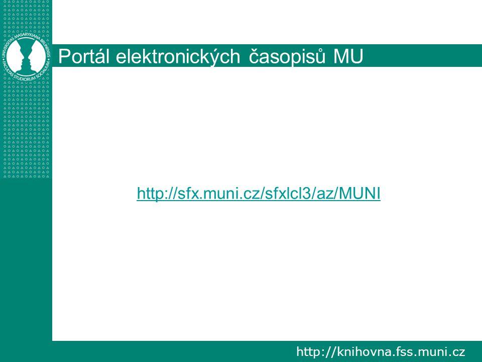 Portál elektronických časopisů MU