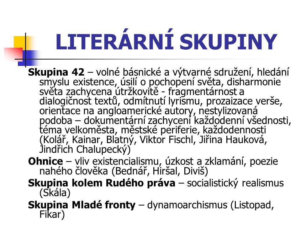 LITERÁRNÍ SKUPINY