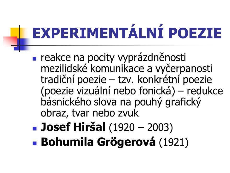 EXPERIMENTÁLNÍ POEZIE