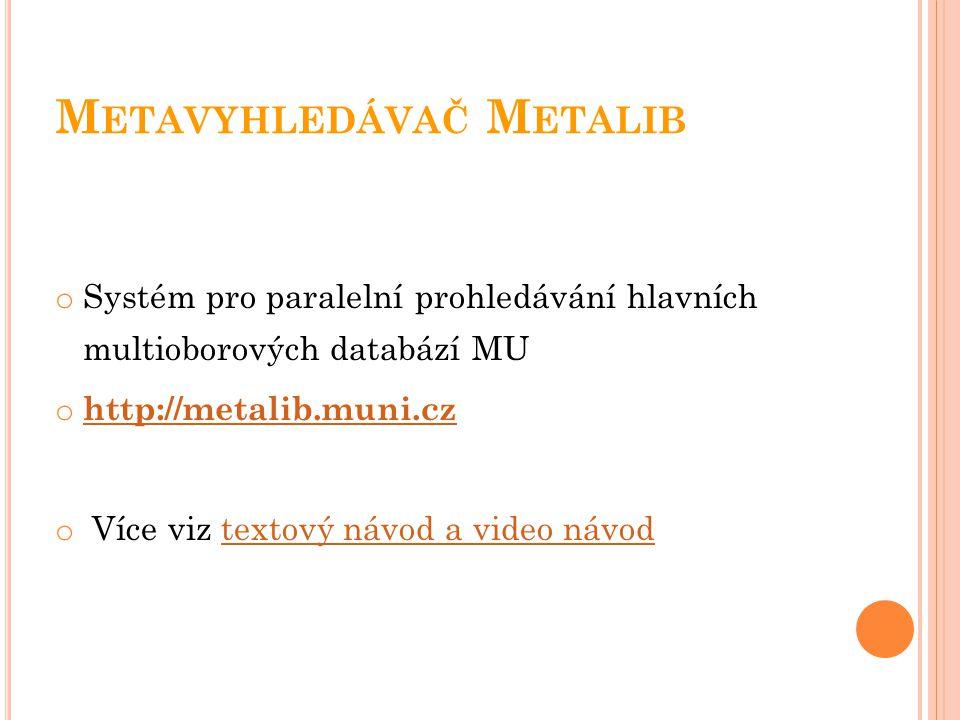 Metavyhledávač Metalib