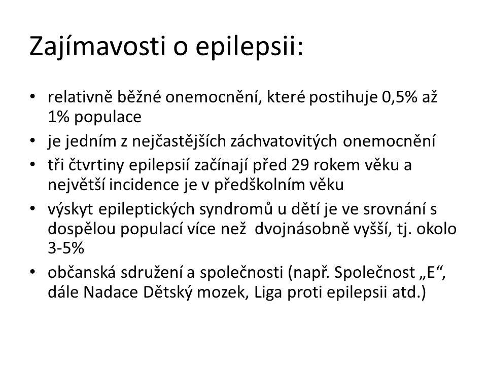 Zajímavosti o epilepsii: