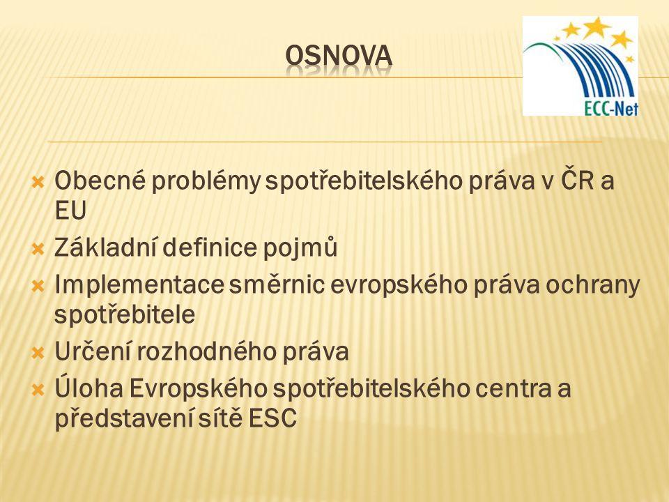 Obecné problémy spotřebitelského práva v ČR a EU