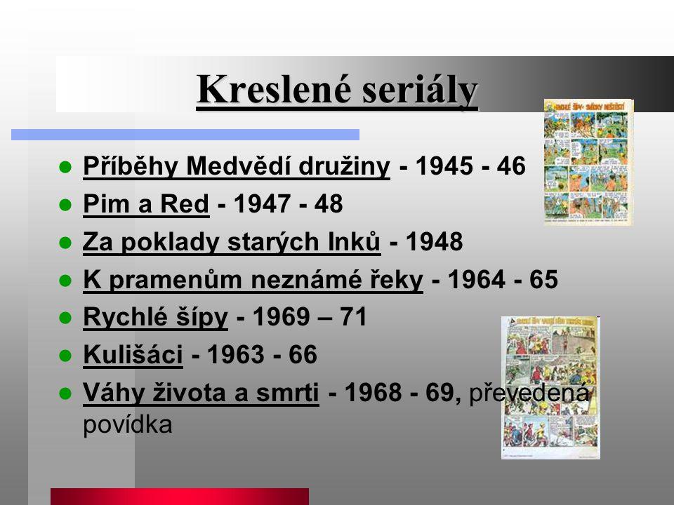 Kreslené seriály Příběhy Medvědí družiny - 1945 - 46