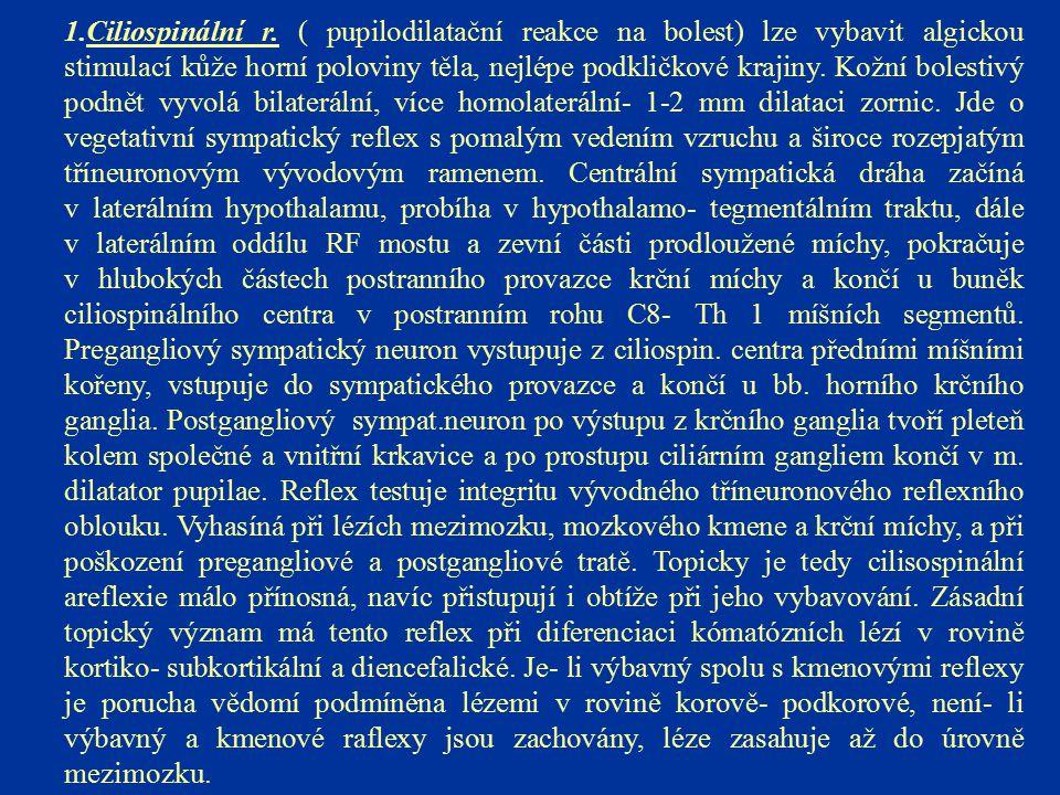 Ciliospinální r.