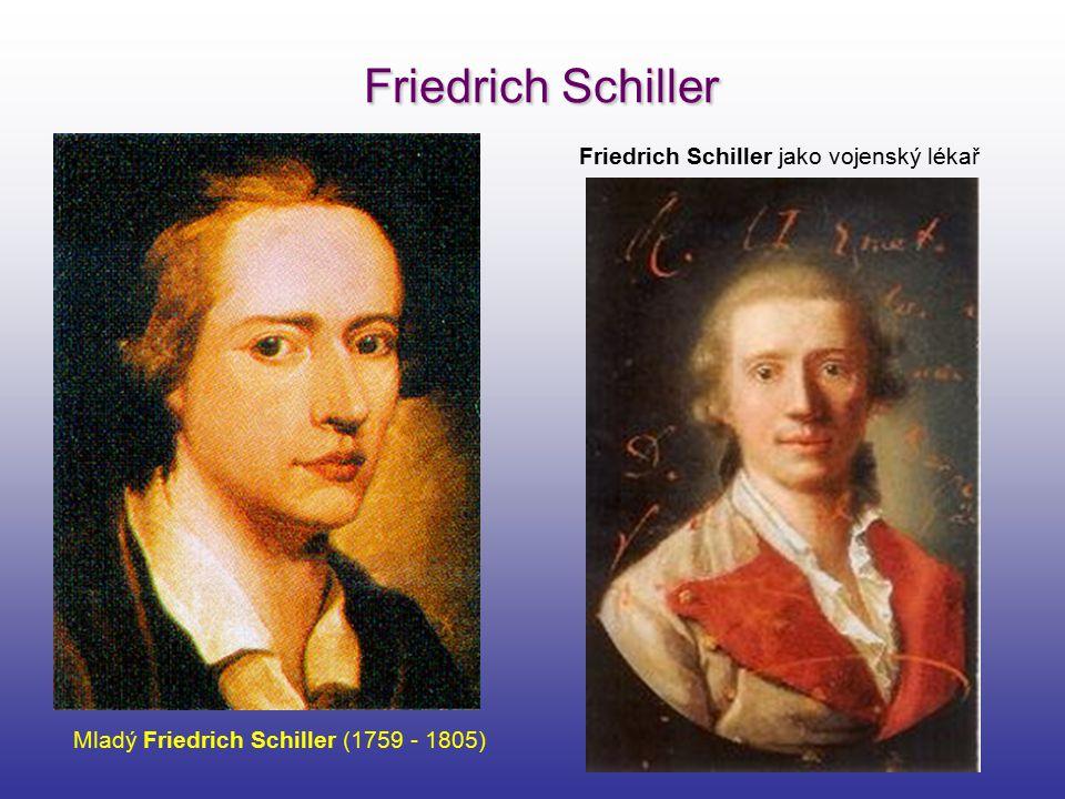 Friedrich Schiller Friedrich Schiller jako vojenský lékař