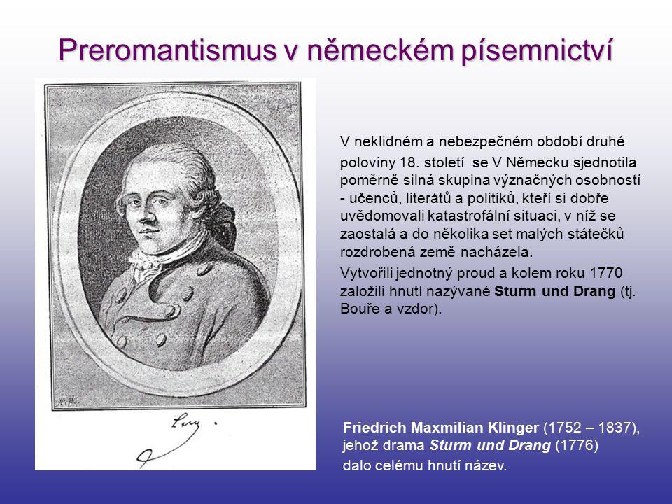 Preromantismus v německém písemnictví