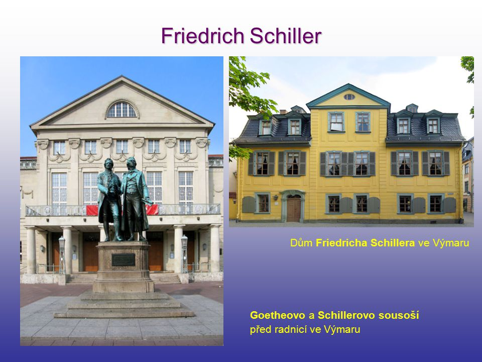 Friedrich Schiller Dům Friedricha Schillera ve Výmaru