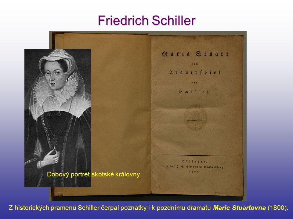 Friedrich Schiller Dobový portrét skotské královny