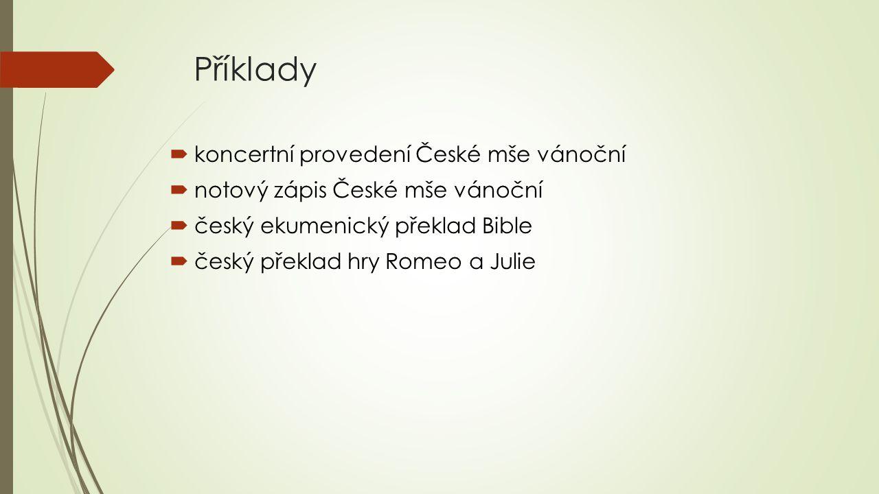Příklady koncertní provedení České mše vánoční