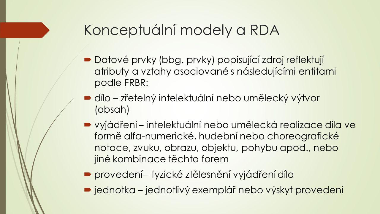 Konceptuální modely a RDA