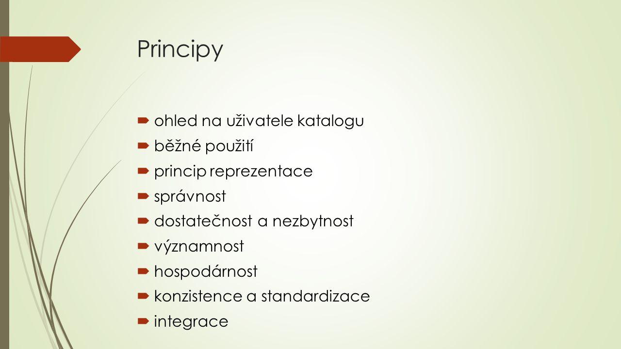 Principy ohled na uživatele katalogu běžné použití