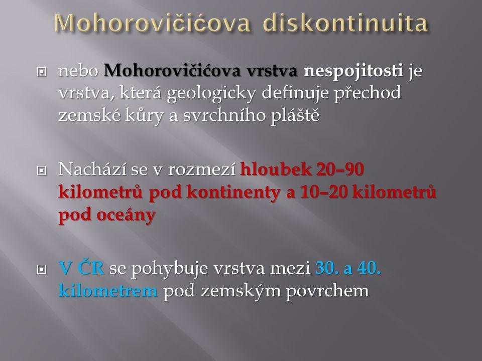 Mohorovičićova diskontinuita
