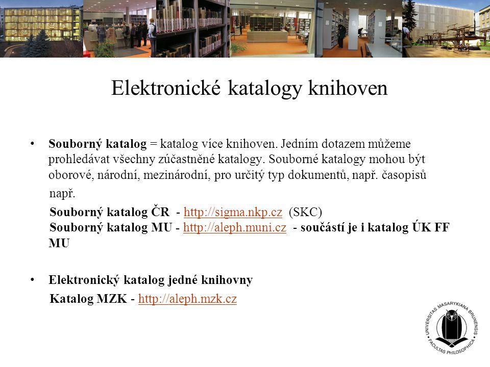 Elektronické katalogy knihoven