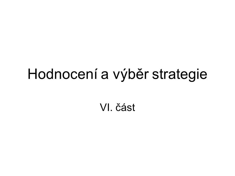 Hodnocení a výběr strategie