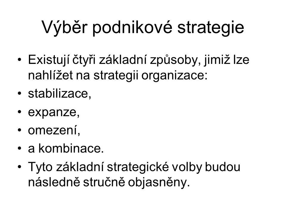 Výběr podnikové strategie