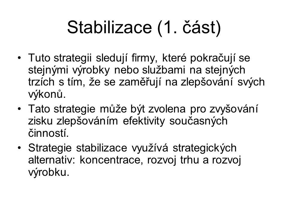 Stabilizace (1. část)