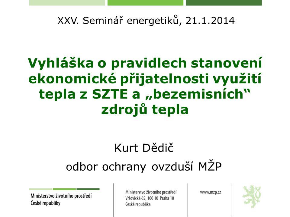 Kurt Dědič odbor ochrany ovzduší MŽP