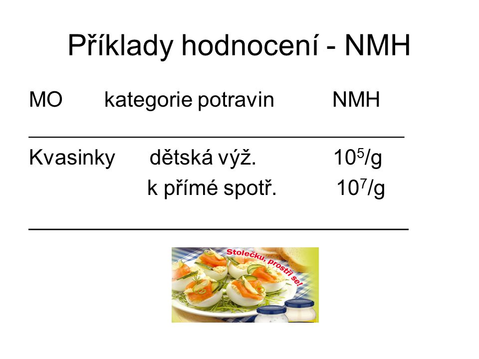 Příklady hodnocení - NMH