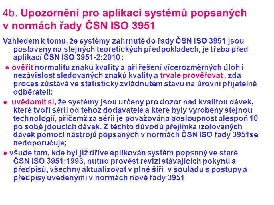 4b. Upozornění pro aplikaci systémů popsaných v normách řady ČSN ISO 3951