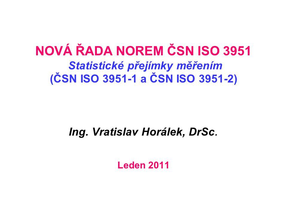 Ing. Vratislav Horálek, DrSc. Leden 2011