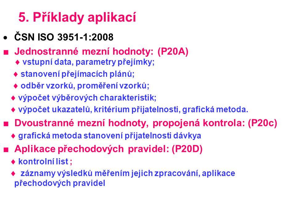 5. Příklady aplikací ČSN ISO 3951-1:2008