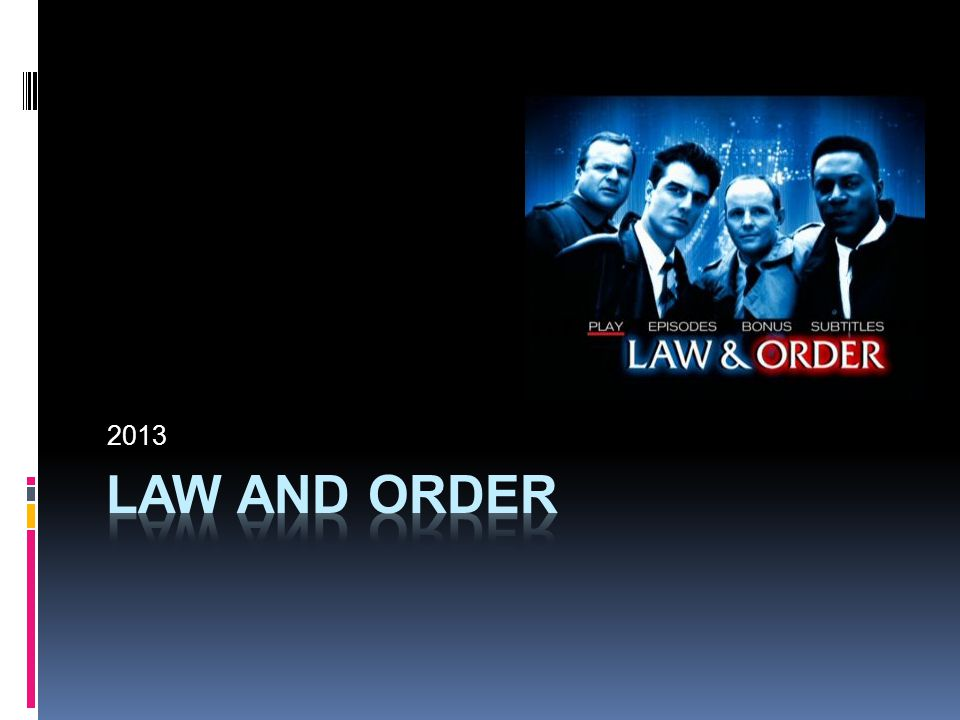 2013 law and order