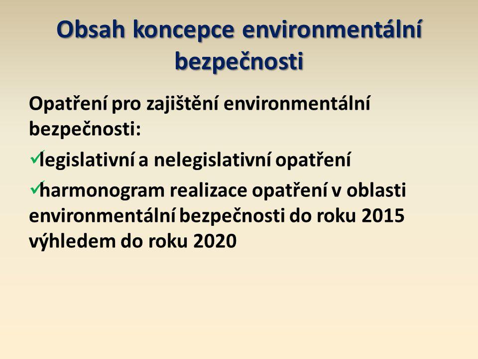 Obsah koncepce environmentální bezpečnosti