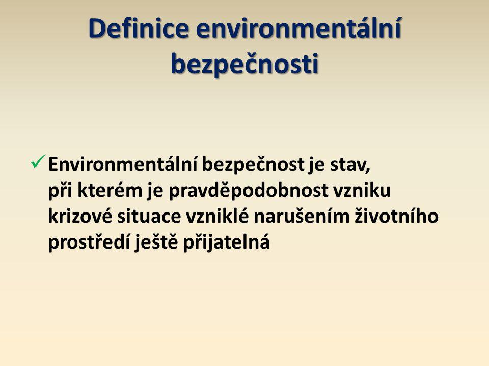 Definice environmentální bezpečnosti