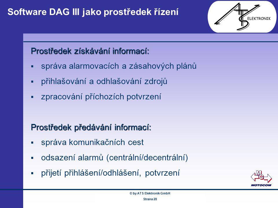 Software DAG III jako prostředek řízení