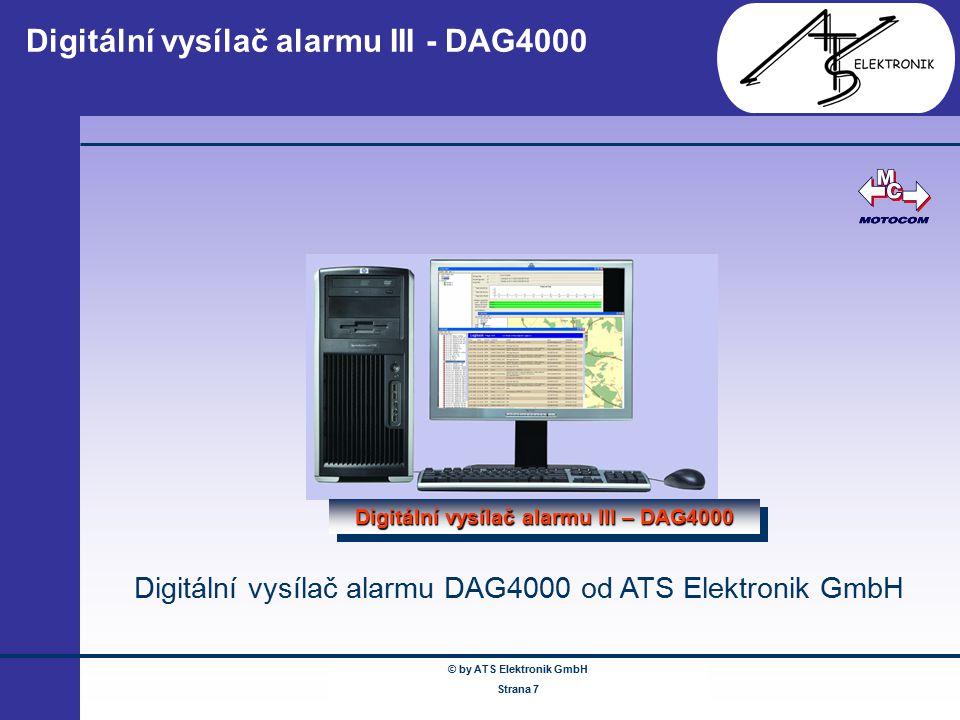 Digitální vysílač alarmu III - DAG4000