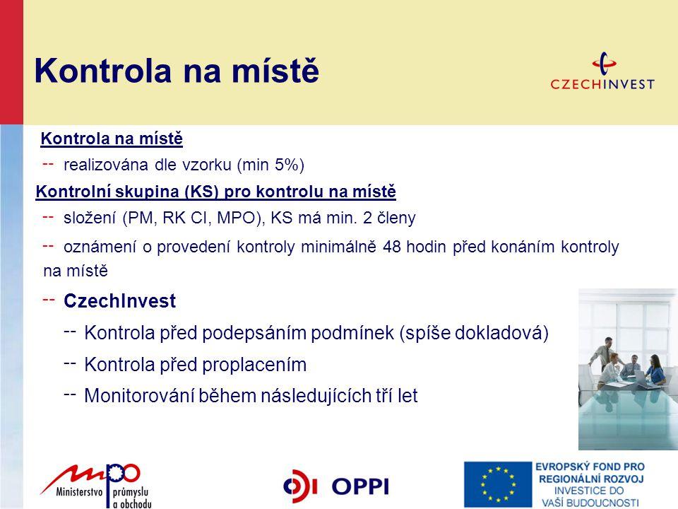 Kontrola na místě CzechInvest