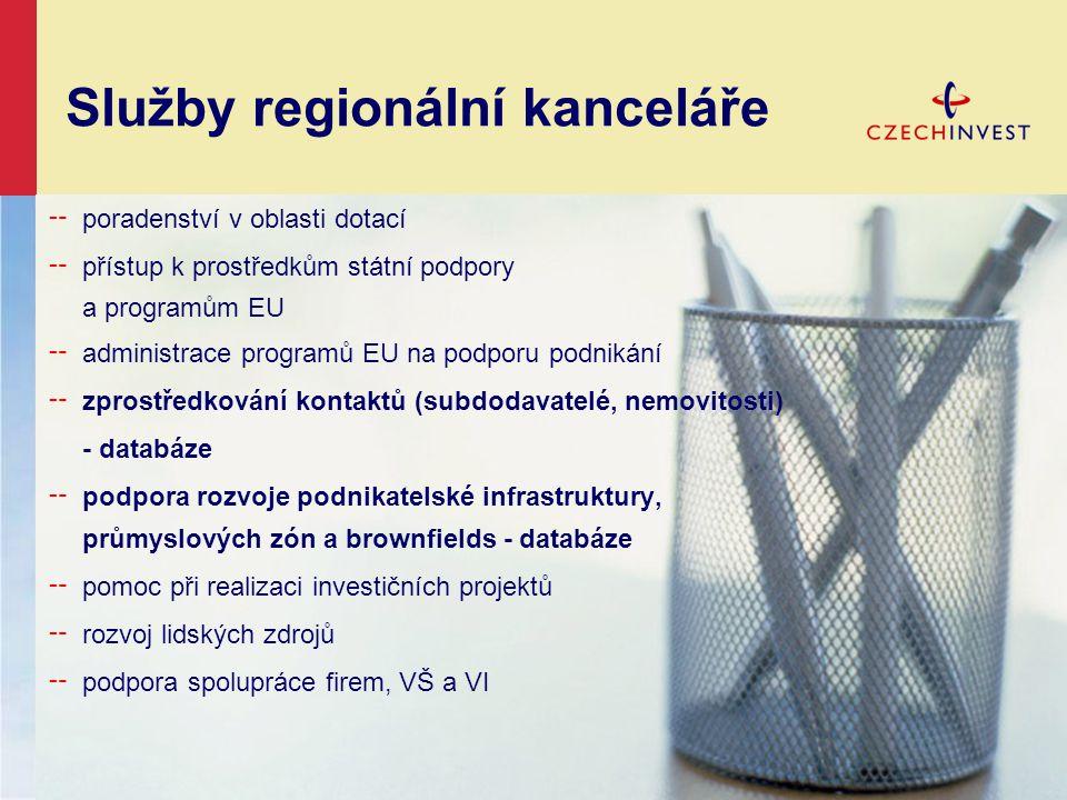 Služby regionální kanceláře