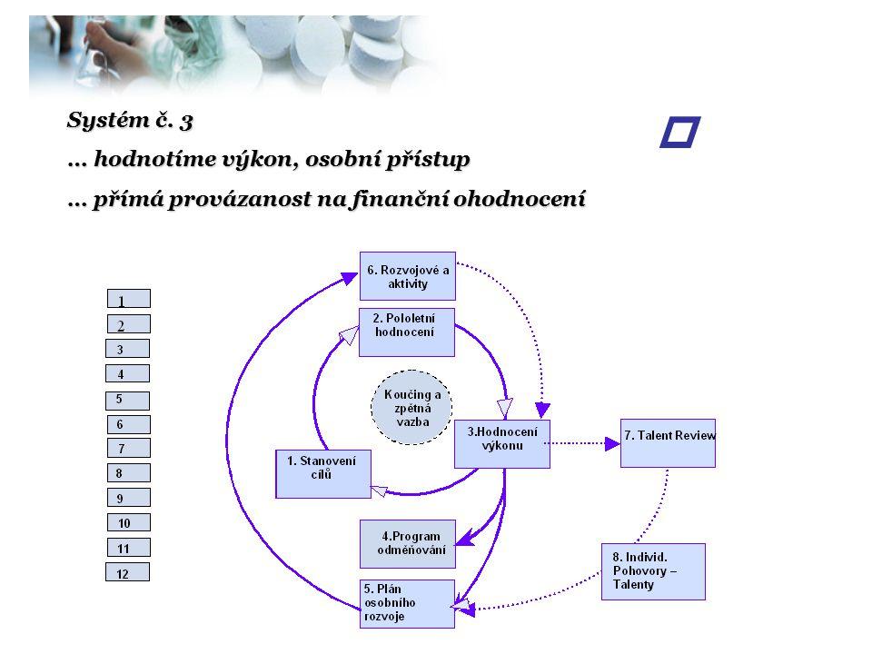 p Systém č. 3 … hodnotíme výkon, osobní přístup
