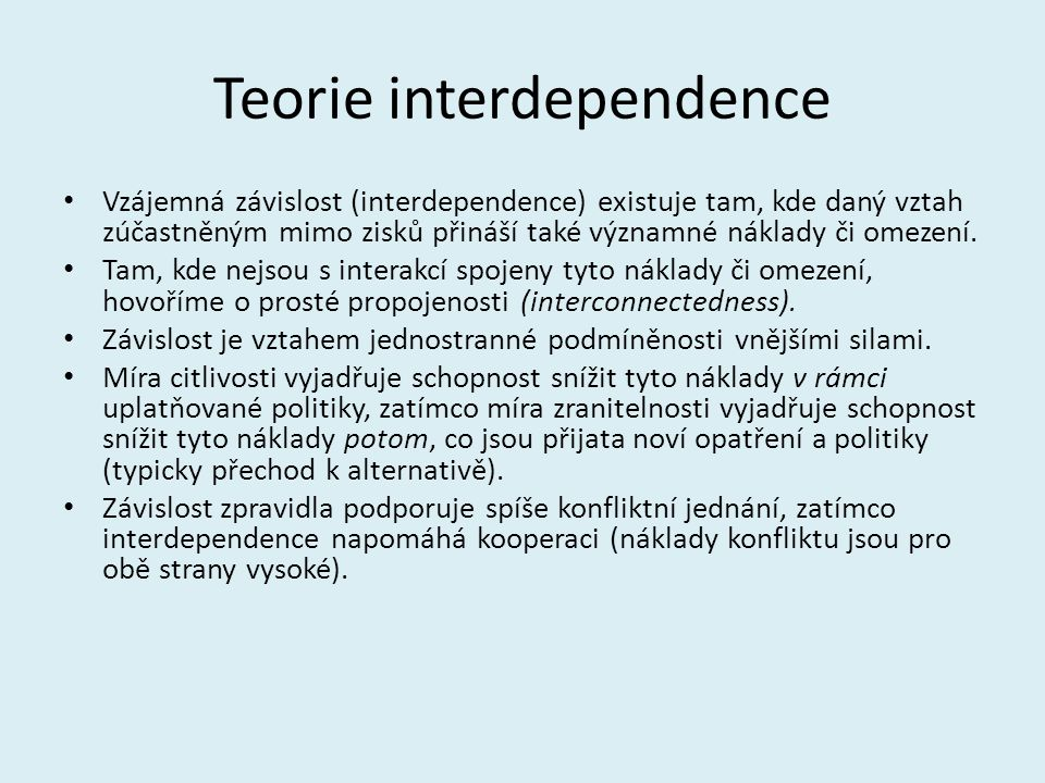 Teorie interdependence