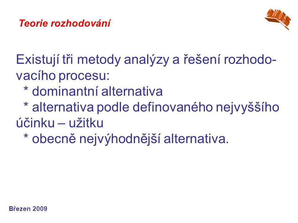 CW05 Teorie rozhodování.