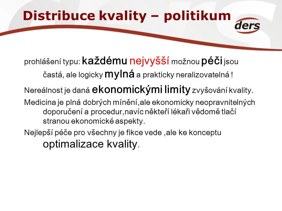 Distribuce kvality – politikum
